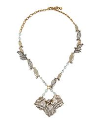 Lulu Frost - Metallic Vine Cactus Flower Necklace - Lyst