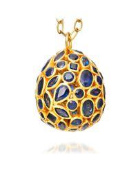 Pippa Small - Metallic Precious Large Sapphire Egg Pendant - Lyst