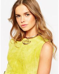 ASOS - Metallic Interstellar Puzzle Choker Necklace - Lyst
