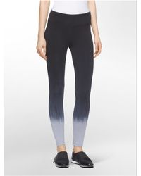 Calvin Klein - Gray White Label Performance Dip Dye Leggings - Lyst