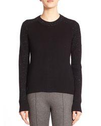 Rag & Bone - Black Catherine Speckled Cashmere Sweater - Lyst