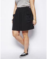 ASOS - Black Skater Skirt with Pockets - Lyst
