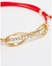 Ted Baker | Metallic Crista Sleek Bow Cord Bracelet | Lyst