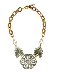 Lulu Frost | Green Ortiga Mosaic Statement Necklace for Men | Lyst