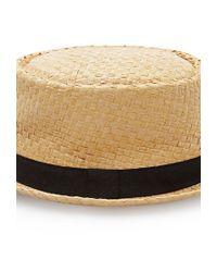 Forever 21 - Brown Straw Pork Pie Hat - Lyst