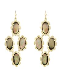 Kendra Scott - Metallic Carla Motherofpearl Earrings Brown - Lyst