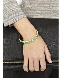 Alexander McQueen | Green Spearmint Enamel Skull Bracelet | Lyst