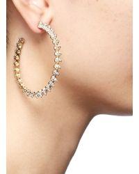 Eddie Borgo | Metallic Pavé Mini Cone Hoop Earrings | Lyst