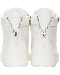 Giuseppe Zanotti - White Leather High-top London Sneakers for Men - Lyst