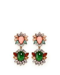 Kenneth Jay Lane | Multicolor Crystal And Stone Drop Earrings | Lyst