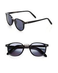 Cutler & Gross - Black 50Mm Round Sunglasses - Lyst