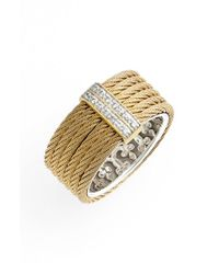 Alor - Metallic Diamond Cigar Band Ring - Lyst