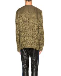 Haider Ackermann | Yellow Collarless Shirt | Lyst