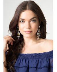 Bebe | White Crystal Chandelier Earrings | Lyst