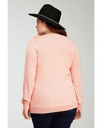 Forever 21 - Pink Plus Size Crew Neck Sweater - Lyst
