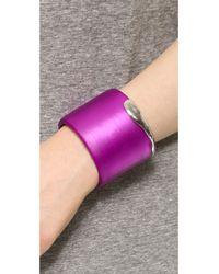 Alexis Bittar - Liquid Metal Edge Cuff Bracelet - Hot Pink - Lyst