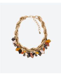 Zara | Multicolor Rhinestone Necklace | Lyst