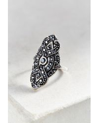Urban Outfitters - Metallic Gatsby Deco Party Ring - Lyst