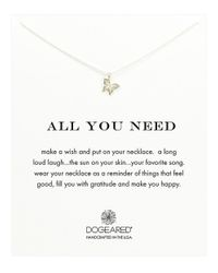 Dogeared | Metallic 'all You Need' Butterfly Pendant Necklace | Lyst