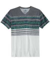 American Rag | Gray Merry Striped T-shirt for Men | Lyst