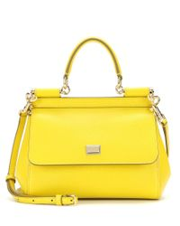 Dolce & Gabbana - Yellow Miss Sicily Small Leather Shoulder Bag - Lyst