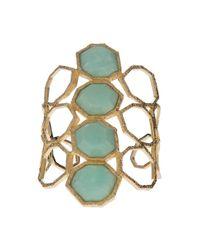 Isharya - Green Goddess Honeycomb Cuff - Lyst
