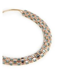 St. John | Green 'rondelle' Swarovski Crystal Necklace | Lyst