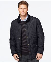 London Fog | Blue Diamond Quilted Coat for Men | Lyst