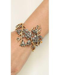 Oscar de la Renta | Metallic Crystal Branch Bracelet | Lyst