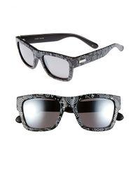 Le Specs | Black 'bowie' 54mm Geo Print Sunglasses | Lyst
