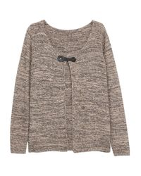 Violeta by Mango | Brown Metallic Cotton Cardigan | Lyst