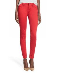 Hudson Jeans | Red 'nico' Skinny Jeans | Lyst