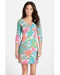 c3d09b47e76df0 Lilly Pulitzer 'palmetto' Print Pima Cotton T-shirt Dress - Lyst