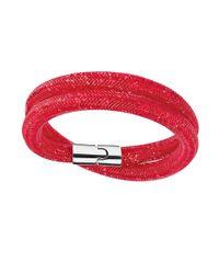 Swarovski | Red Stardust Wrap Bracelet | Lyst
