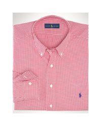 Ralph Lauren | Red Gingham Poplin Sport Shirt for Men | Lyst