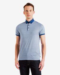 Ted Baker | Blue Trarnce Regular Fit Polo for Men | Lyst