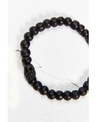 Urban Outfitters | Black Skull Bracelet | Lyst