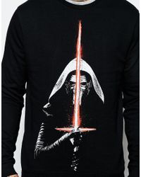 ASOS | Black Sweatshirt With Star Wars Print for Men | Lyst