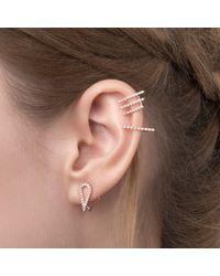 Astrid & Miyu - Pink Teardrop Ear Jacket In Rose Gold - Lyst