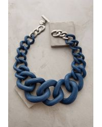 Anthropologie | Blue Crescendo Link Necklace | Lyst