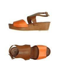 Officine Creative Brown Sandals