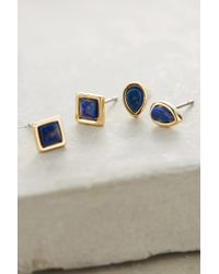 Anthropologie | Blue Charu Post Earrings Set | Lyst