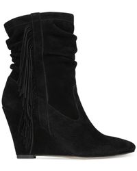 INC International Concepts | Black Everleeh Wedge Booties, Only At Macy's | Lyst