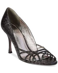 Adrianna Papell - Black Maya Evening Embellished Platform Sandals - Lyst