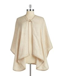 Calvin Klein | White Knit Buckle Poncho | Lyst