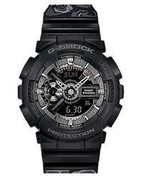 G-Shock - Black 's-series' Floral Band Resin Ana-digi Watch - Lyst