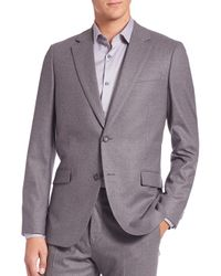 Theory | Gray Slim-fit Malcolm Wool Jacket for Men | Lyst