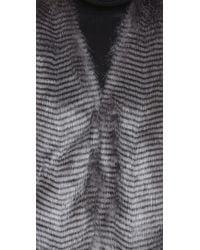 BB Dakota - Gray Jack By Duda Faux Fur Vest - Lyst