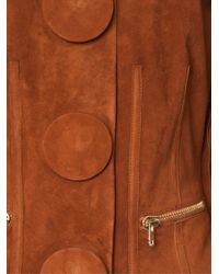 Givenchy - Brown Buttoned Lambskin Jacket  - Lyst
