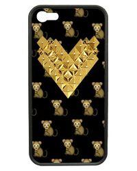 Wildflower | Black 'monkemoji Gold Studded Heart' Iphone 5 & 5s Case | Lyst